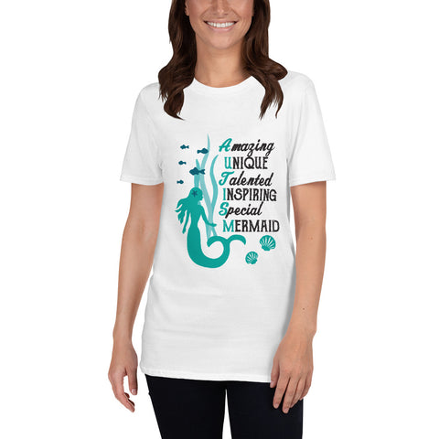 Autism Mermaid Acrostic Short-Sleeve Unisex T-Shirt