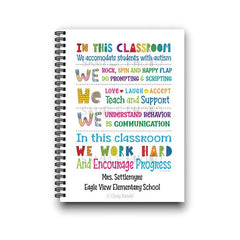 Autism Special Ed Teacher Gift Notebook