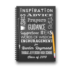 Personalized Graduation Notebook - Class of 2020 Guestbook - Words of Advice