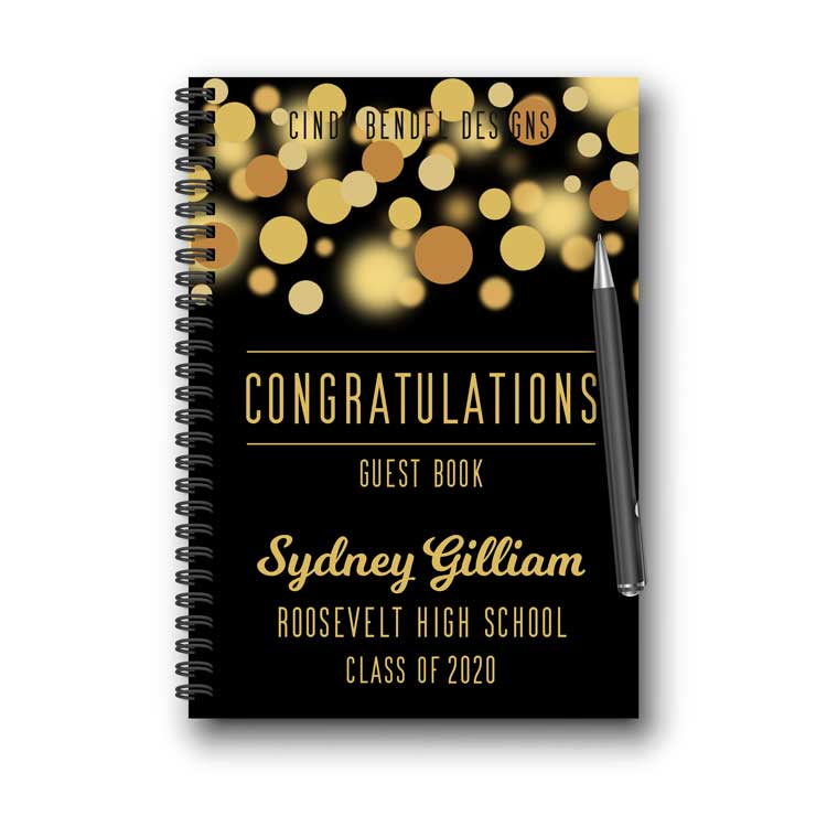 Personalized Graduation Guestbook Notebook
