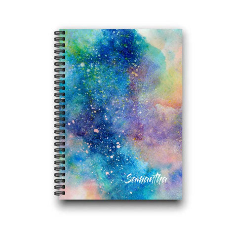 Starry Night Galaxy Personalized Notebook