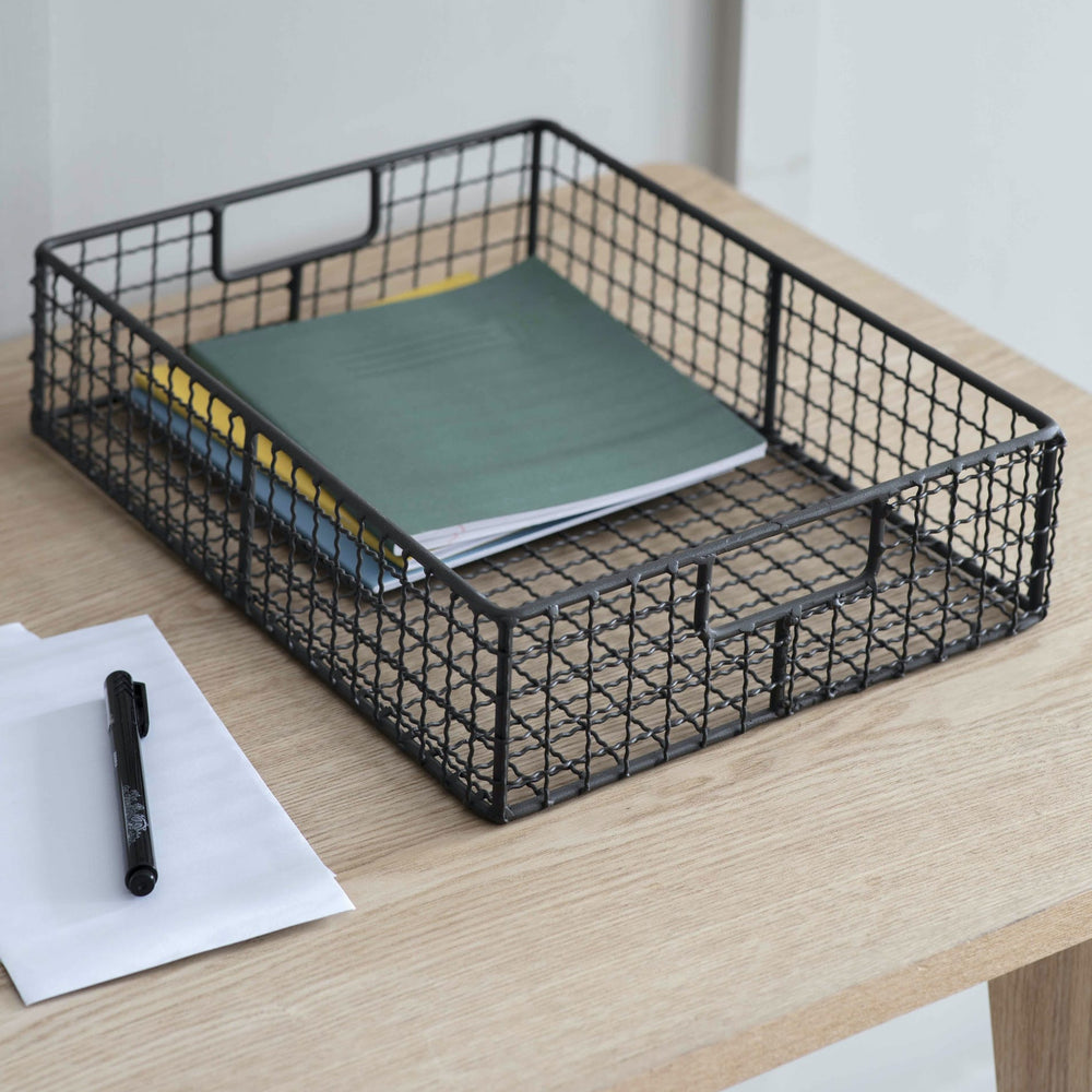 Metal Storage Desk Tray