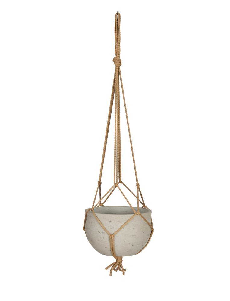Cement Hanging Pot - Stone