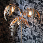 Antique Gold Palm Floor Lamp