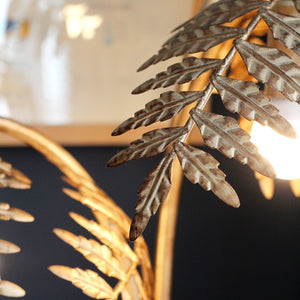 Antique Gold Palm Table Lamp