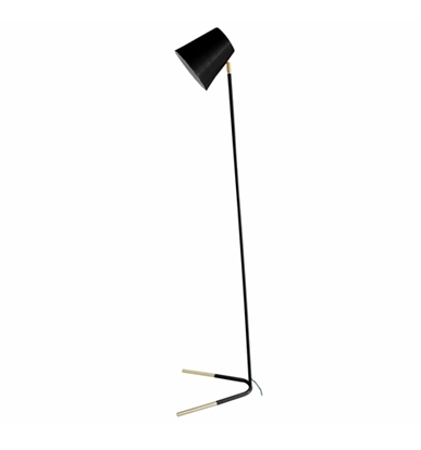 Black and Gold 'Noble' Floor Lamp