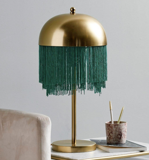 Art Deco Table Lamp with Fringes