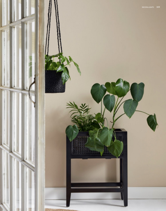 Black Jute Hanging Planter