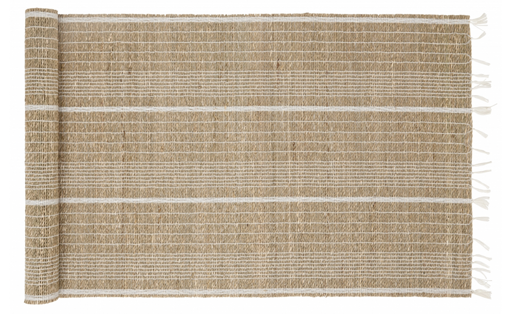 Seagrass Table Runner - White and Natural
