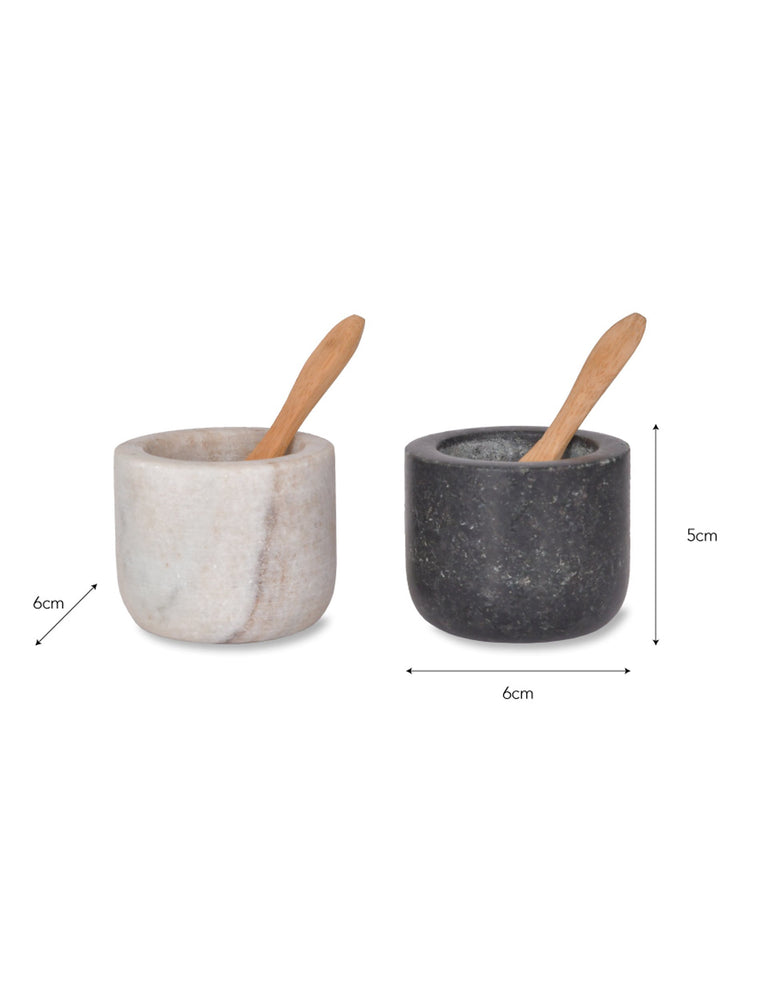 Marble Salt and Pepper Pots