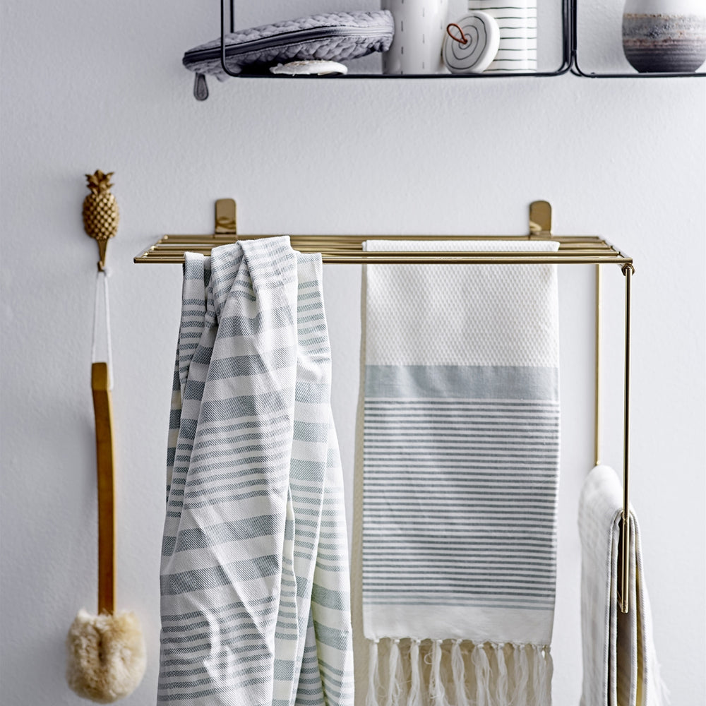 Gold Metal Towel Rack