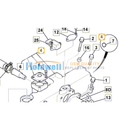 Manifold Intake for ISUZU engine 4LE1 & 4LE2 in JCB model 02/803142