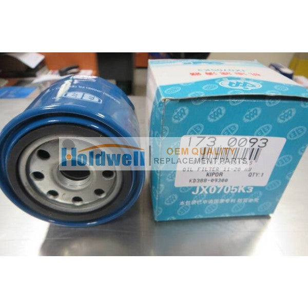 HOLDWELL Kipor Oil Lube Filter  KD388-09300 for KDE11SS, KDE13SS, KDE16SS, KDE20SS and KDE11-20SS-AU Kipor KD388 and KD488 Engines