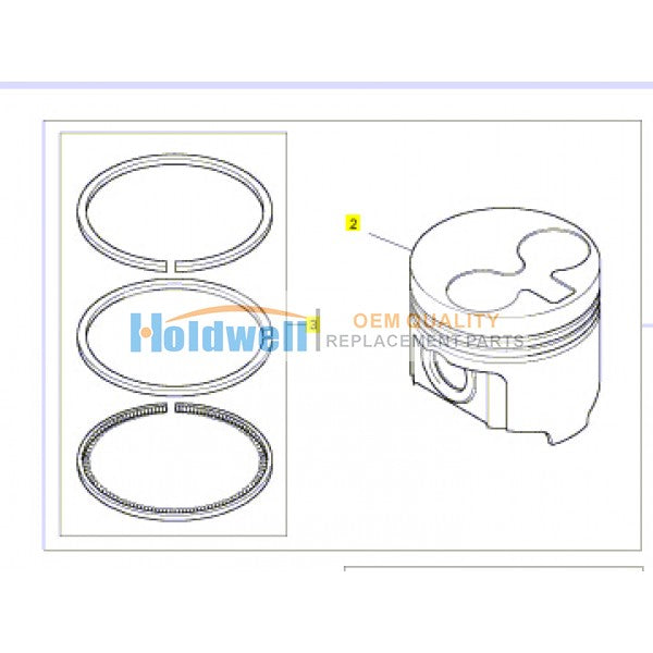 Piston and Ring Kit for403F-11 403D-11 404D-15 403A-15 403C-11 404C-20 engine  115017620