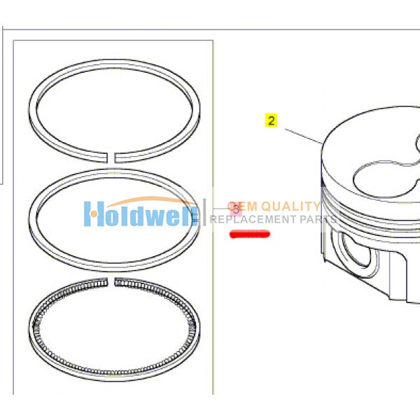 Piston Ring for 403F-11 403D-11 404D-15 403A-15 403C-11 404C-20 engine 115104090