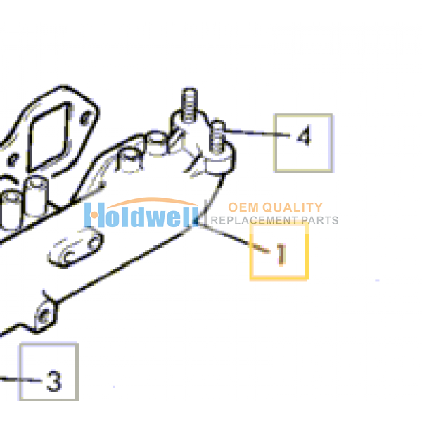 Manifold induction for ISUZU engine 6BG1 in JCB model 02/800437