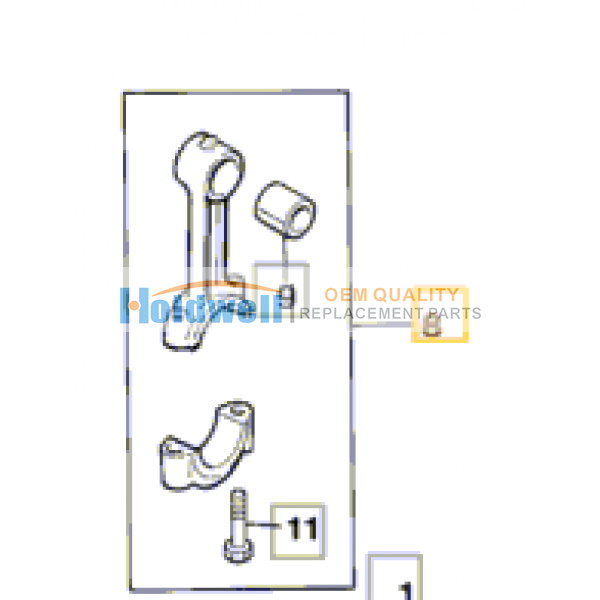 Rod connecting, assembly  for ISUZU engine 4BG1 in JCB model 02/800310