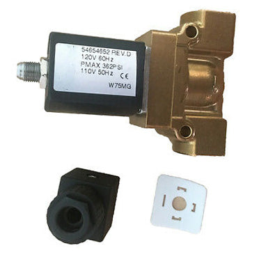 Ingersoll Rand solenoid valve gas/oil 54774302 for 60Hz UP6 15, UP6 20, UP6 25, UP6 30;SSR-XFE/EPE/HPE 50 HP SSR-XF/EP/HP 60 HP SSR-XF/EP/HP/XP 75-100 HP SSR-ML/MM/MH 37-75 KW