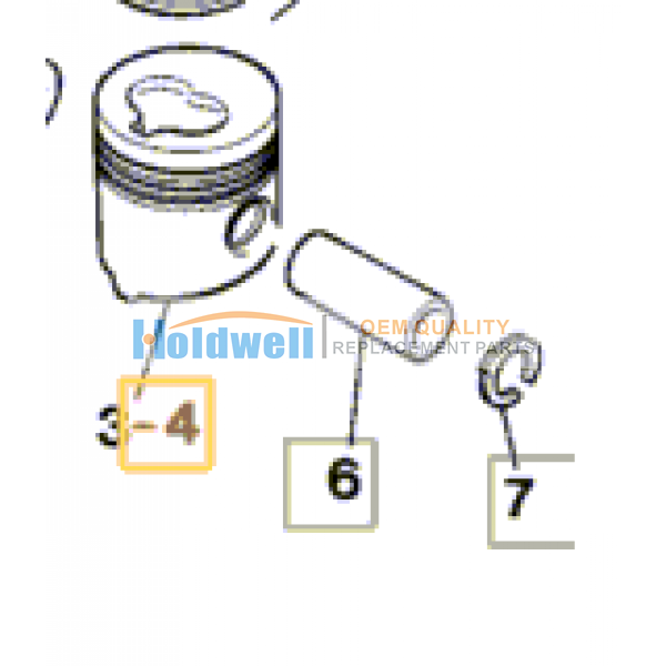 Piston standard for ISUZU engine 6BG1 in JCB model 02/800423  02/800688
