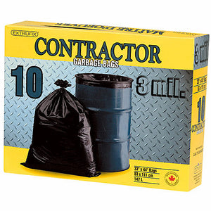 Contractor Garbage Bags 147l Box of 10
