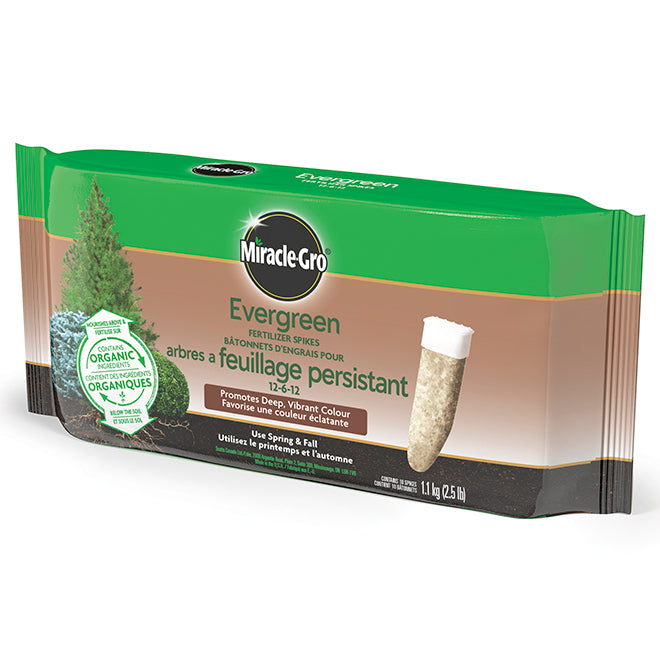 Miracle Gro Evergreen Fertilizer Spikes 12-6-12 10 pk