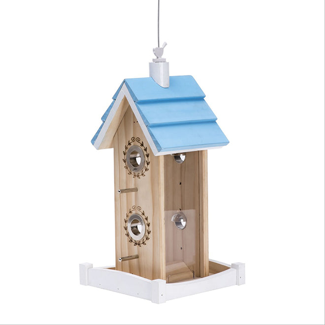 "Perky Pet ""Chalet"" Bird Feeder - Blue"