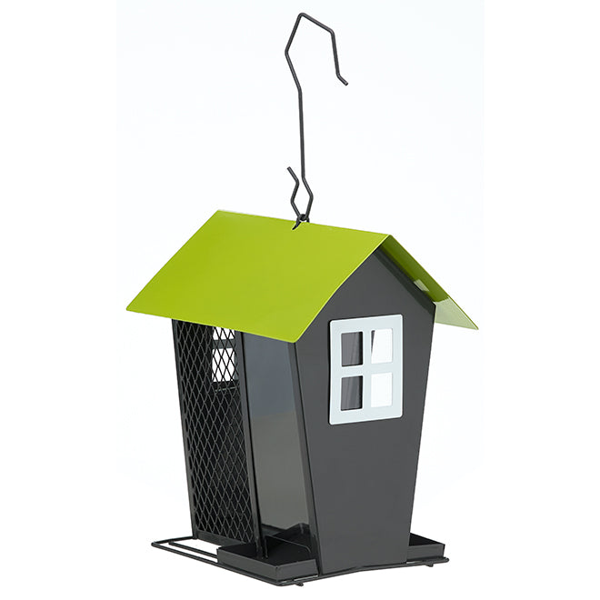 Perky Pet Metal Bird Feeder Grey/Green