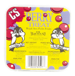 C&S Berry Treat Suet for Birds - All Year - 333 g