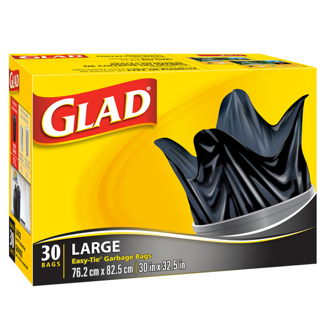 "Glad Garbage Bags 30""x33""  Box of 30"