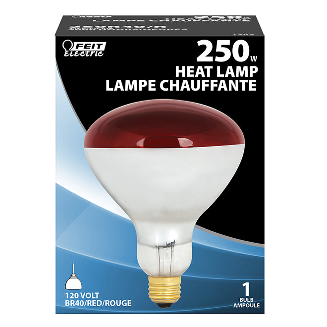 Feit Electric Incandescent Bulb - E26 R40 - 250 W - Red