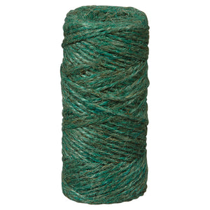 Ben-Mor Twisted Jute Twine-2-Strand Large 200' -Green