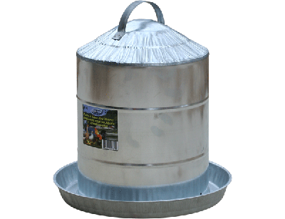 Galvanized Poultry Fountain 2 gal