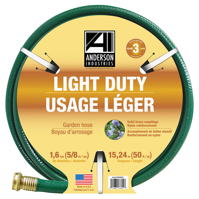 "Anderson Industries Light Duty Garden Hose - 5/8""x50'"