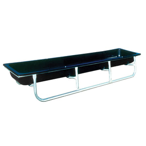 "Bunk Feeder - Galvanized Steel/Poly - 120"" x 32"" x 14"""