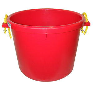 Muck Bucket - Rubber Polymer - 66 L - Red