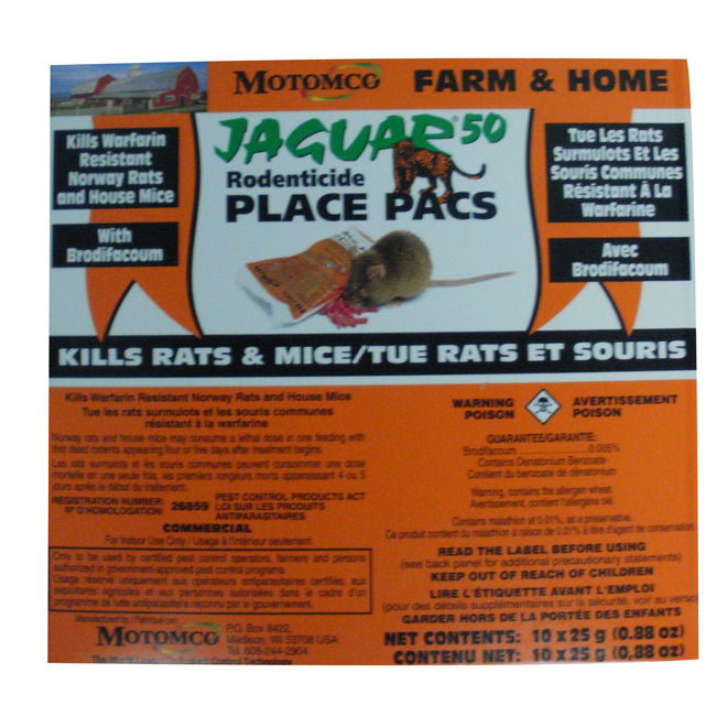 JAGUAR  Rodenticide - Jaguar Place - 25 g - 10-Pack