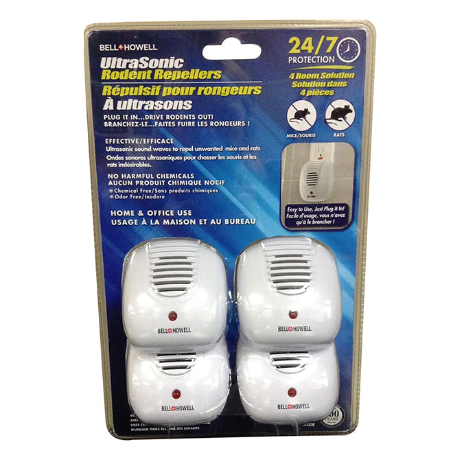 Bell & Howell Ultrasonic Rodent Repeller 4 pk