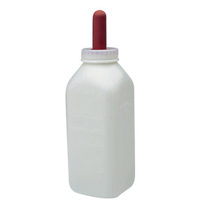Calf Bottle Feeder with Screw-On Nipple - 2 Qt