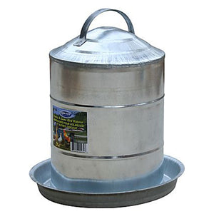 Galvanized Poultry Fountain 3 gal