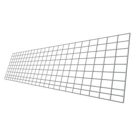 "Cattle Fence Panel - 4GA Galvanized - 10 Line - 52"" x 16'"