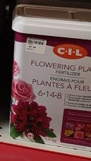 CIL Flowering Plants Fertilizer 6-14-8 1.7kg