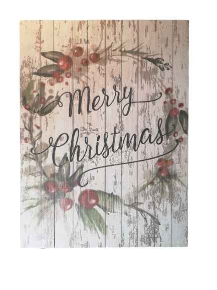 Rustic Wood Merry Christmas Sign