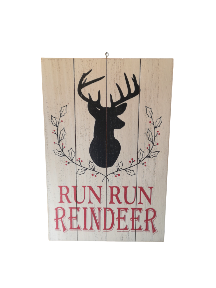 Rustic Wooden Reindeer Sign