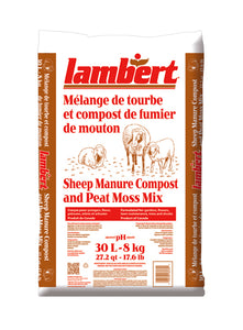Lambert Sheep Manure Compost and Peat Moss Mix - 30L