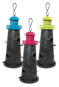 Mixed Seed Lighthouse Feeder Assorted Colours