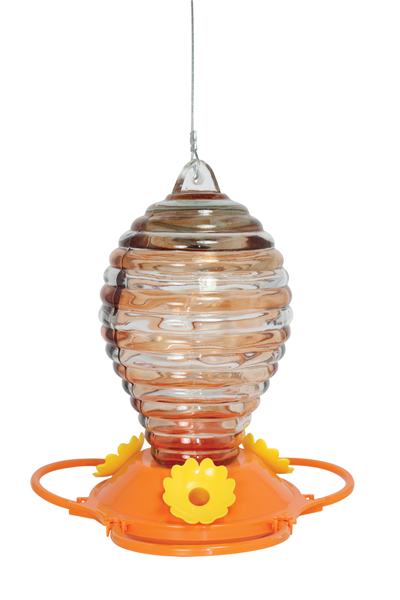 PAINTED GLASS ORIOLE FEEDER
