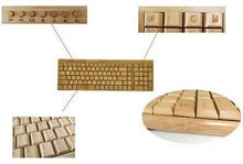Charger l'image dans la galerie, Handmade Bamboo PC Wireless Keyboard & Mouse