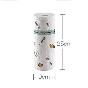 Pack 50 sheet/roll Reusable Rag Bamboo Towels