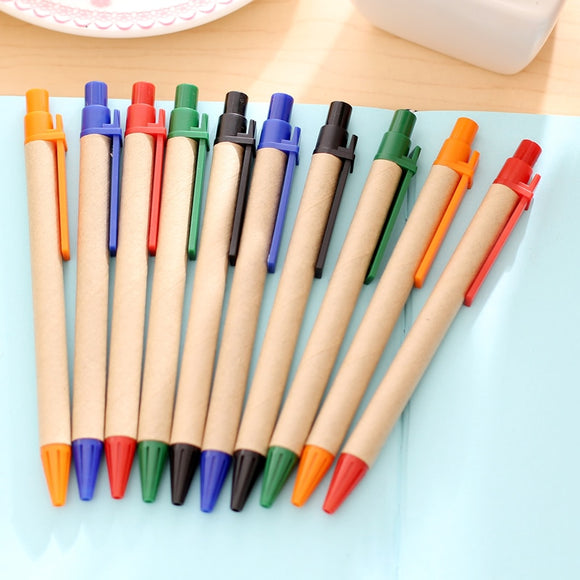10 PCS / Pack - Eco Paper Pen