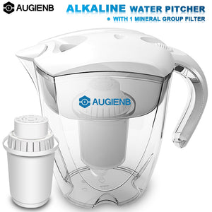 AUGIENB Water Pitcher with Filters -  3.5L